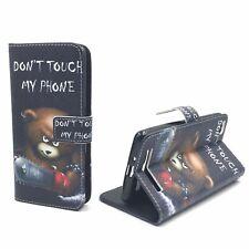 Schutz Hülle für Xiaomi Redmi 3 Bär Dont Touch Tasche Leder-Imitat Wallet Cover