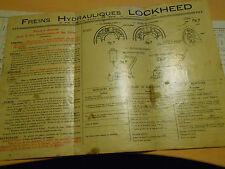 document 8 pages LOCKHEED juillet 1956 référence cylindres + planche technique