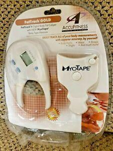 Accufitness FatTrack Gold Premium Digital Body Fat Caliper, MyoTape AF-FT03