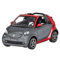 Smart Modellauto PKW 1:43  fortwo cabrio A453 titan grey matt/red  B66960286