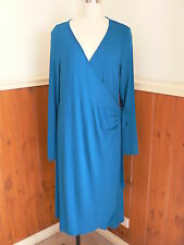 NWT XL RIPE MATERNITY GIA WRAP BLUE DRESS STRETCH FORMAL EVENING WORK WEAR SMART