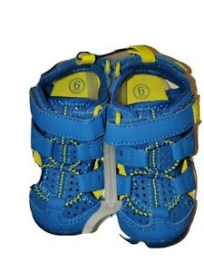 New Toddler Boys Cat & Jack Howell Fisherman Blue Sandals Shoes Size 6 with tags