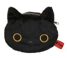 SAN-X JAPAN KUTSUSHITA NYANKO BLACK KITTY CAT KAWAII FLUFFY COIN CASE US Seller