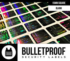 200ct 15MM SQUARE WARRANTY VOID SECURITY HOLOGRAM LABEL STICKERS -FREE SHIPPING