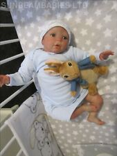 "REBORN DOLL BOY 22"" BOUNTIFUL BABY was GRACIE BY DAN ARTIST 6yrs SUNBEAMBABIES"