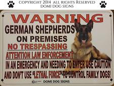 "Metal Warning German Shepherds Dog Sign For FENCE ,Beware Of Dog 8""x12"""