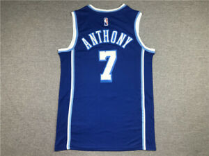 Men's Carmelo Anthony #7 Los Angeles Lakers Jersey blue S-2XL