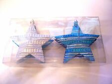 4 TURQUOISE SILVER BLUE SHATTER RESISTENT ORNAMENT CHRISTMAS TREE DECORATION