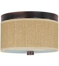 Elements Bronze 2-light Flush Mount Chandelier Ceiling Fixture