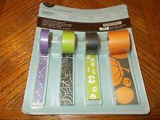 Creative Memories Paper Ribbon  ~HALLOWEEN  ~ 4 Rolls 5 Ft Each ~Spooky Fun ~