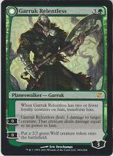 MTG Foil 1X Garruk Relentless X1 Innistrad Magic Played has 3-ring binder ding