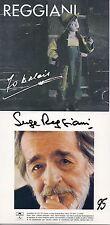 CD Serge REGGIANI2 albums sur 1 CD (Pochette cartonnée) : 70 balais (1992) - 95