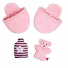 Designabear Bedtime Accessory Set Design a Bear Slippers, Teddy & Water Bottle