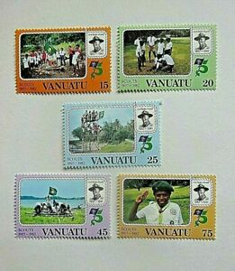 VANUATU 1982 SG 345/348 75th ANNIV SCOUTS UM MINT