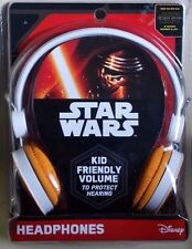 Disney STAR WARS Collectable THE FORCE AWAKENS Kids Childrens HEADPHONES New!