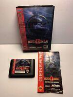 Mortal Kombat II Sega Genesis Vintage original game Complete With Manuel