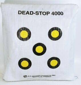 """Vintage Archery Bag Dead-Stop 4000 Lightweight Double Burlap 23""""x21"""""""