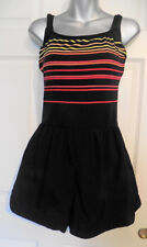 Vintage Black and Striped Gabar Swimsuit Bathing Suit 14
