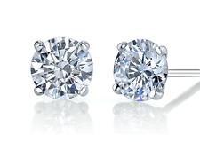 Round Brilliant Diamond studs earrings 0.80ctw GIA Appraisal E-F Color VVS1 GIA