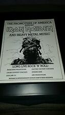 Iron Maiden Long Live Rock N Roll Rare Original Promo Poster Ad Framed!