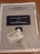 John Deere Operators Manual for Front Blade for Lt/Ltr Lawn Tractors 44-Inch