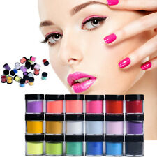 18 Colors Acrylic Nail Art Tips UV Gel Powder Dust Design Decorations 3D DIY US