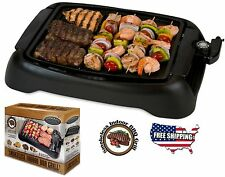 Indoor Smokeless Grill Electric BBQ Non Stick Cooking Portable Barbecue Griddle