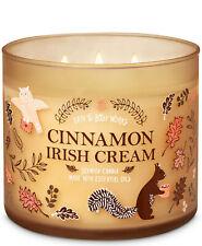 Bath & Body Works Cinnamon Irish Cream Three Wick.14.5 Ounces Scented Candle