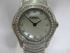 Ladies Ebel Classic Diamond Bezel Stainless Steel Bracelet 9003F-15 #713