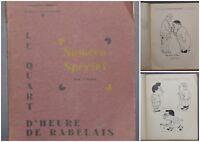 1934 ✤ Le Quart d'Heure de Rabelais ✤ N° Spécial ✤ Illustré / Caricatures