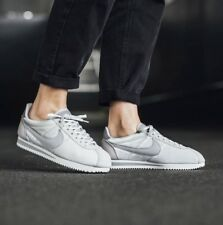 Nike Classic Cortez SE Velvet White Grey Suede Leather Trainers Men Women UK 9