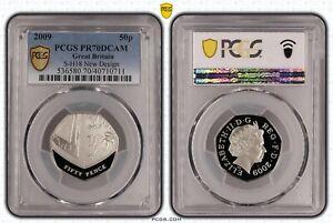 2009 Shield Arms 50p Proof PR70 PCGS Britain Royal Mint TOP POP Finest Known