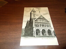 1905 Post Office, Reading, PA Vintage Postcard / Hintz Fountain Pen Ad on Back