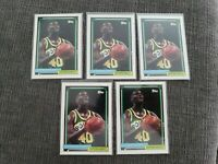 1992-93 Topps Parallel #267 Shawn Kemp Sonics Basketball Card. (5 card lot)
