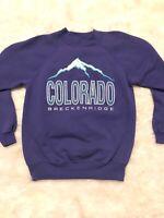 Vintage 90s Breckenridge Colorado SKI Sweater Graphic Womens M HANES