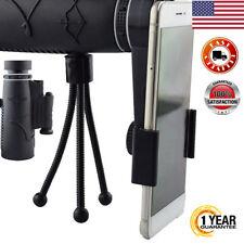 US Portable HD 12x50 OPTICS Monocular Compass Flashlight Red Laser W/Tripod Hunt