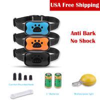 US Anti No Bark Shock Dog Trainer Stop Barking Pet Training Control Collar S M L