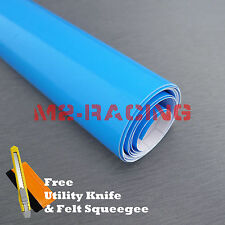 "*60""x1200"" (5Ftx100Ft) Gloss Sky Light Blue Premium Sticker Decal Car Vinyl Wrap"