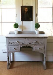 """BIJOU FRENCH GREY/DESK/CONSOLE/DRESSING TABLE/FRENCH COUNTRY/""""FARMHOUSE PAINTED"""""""