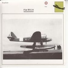 D10758707.  Warplane Collectors Card. Italian Seaplane.Fiat RS.14