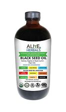 Alive Herbals Black Seed Oil Organic 16 OZ No Preservatives Added