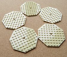 LEGO Large Plates Octagonal TAN # 10x10 # pack of 5 # flat baseplate # NEW *