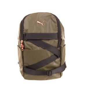 PUMA Backpack Large 19L Compression Strap Logo Detail Padded Mesh Back Zipped
