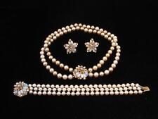 Stunning Miriam Haskell Glass Bead Set / Necklace Bracelet & Earrings Parure ?