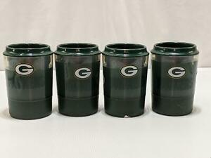 NFL Green Bay Packers Freezer Can Cooler Insulated Freezable Set of 4 1244