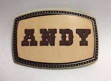 Custom Made - Personalized Leather Belt Buckle - Laser Engraved - FREE SHIPPING
