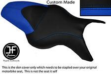R BLUE BLACK VINYL CUSTOM FITS BMW K 1200 R 05-08 K 1300 R 09-13 DUAL SEAT COVER