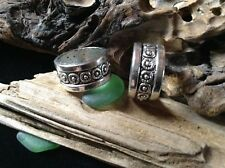 XXL Dreadlock Bead Rings 15mm 2 x Antique Silver Tone Celtic Floral Dread Ties