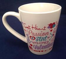 Mug Coffee Tea, Valentine Sweet Heart Flirt Passion Kisses Hugs Cherish