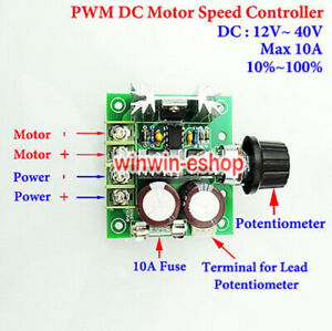 DC 12-40V 10A Pulse Width Modulator PWM DC Motor Speed Control Switch Controller
